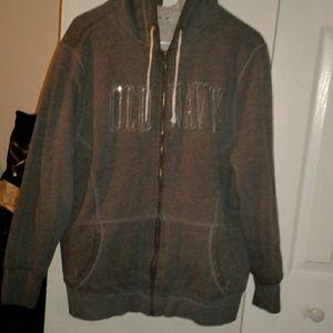 Old Navy fur lined zip up hoodie